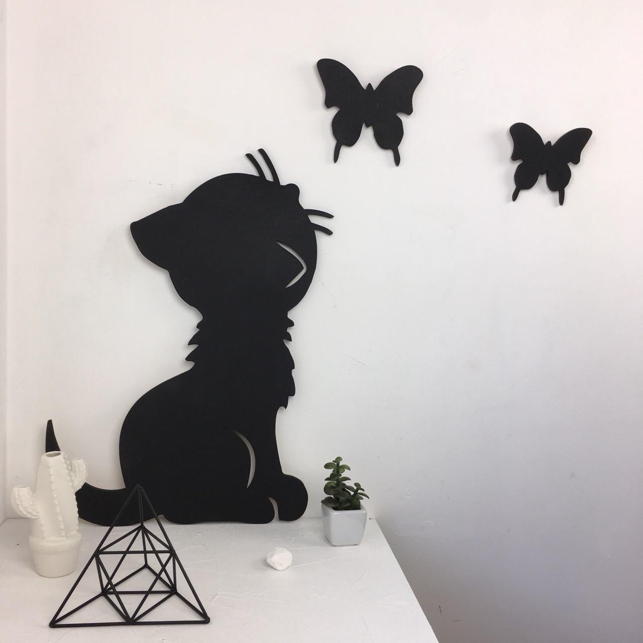 Грифельная доска в форме кота Изображение