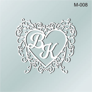 Монограма М-008 Фігурне серце